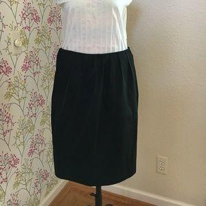 Black designer skirt